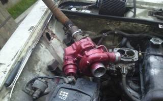 Установка турбины на карбюраторный двигатель