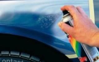 Сколько сохнет автомобильная краска из баллончика