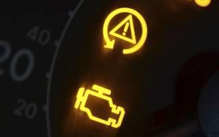 Почему горит значок двигателя причины