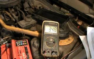 Уровень заряда аккумулятора по напряжению