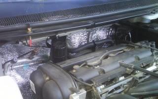 Шумоизоляция моторного щита со стороны двигателя