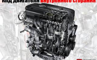 Кпд бензинового двигателя и дизеля