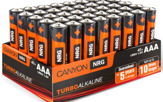 Как зарядить аккумуляторную батарейку