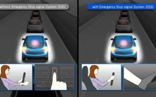 Система предупреждения водителей сзади при экстренном торможении