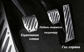 Расположение педалей в машине