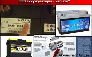 Как заряжать аккумулятор efb