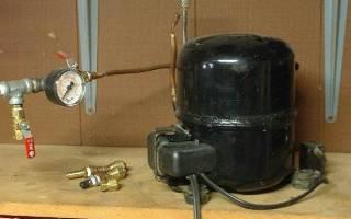 Как сделать из компрессора от холодильника компрессор для воздуха