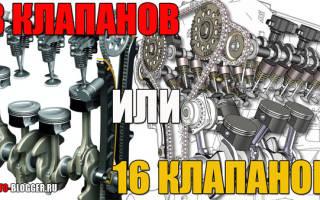 Какой двигатель лучше 8 или 16 клапанный