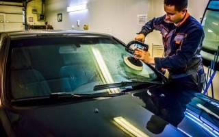 Как убрать царапины с лобового стекла