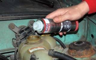 Средства для промывки системы охлаждения двигателя