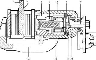Рычаг привода стояночного тормоза