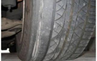 Причины и виды износа шин