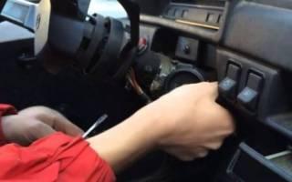Как завести машину без ключа зажигания