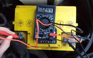 Сколько должен показывать аккумулятор когда машина не заведена
